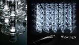 Dessiner la lumière Wanetlight est une suspension lumineuse, composée de 25 chandelles en verre soufflé. Elles dessinent une matrice lumineuse tridimensionnelle. Des gestuelles naturelles commandent la modulation de la lumière...