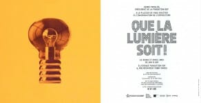 18/04 - 31/8, Nodesign participe à l'exposition « Que la lumière soit ! » à la Fonfation EDF à Paris.